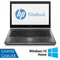 Laptop HP EliteBook 8470p, Intel Core i5-3320M 2.60GHz, 4GB DDR3, 120GB SSD, DVD-RW, 14 Inch, Webcam + Windows 10 Home