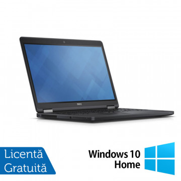 Laptop DELL Latitude E5250, Intel Core i5-5300U 2.30GHz, 8GB DDR3, 120GB SSD, 12.5 Inch, Webcam + Windows 10 Home, Refurbished Laptopuri Refurbished