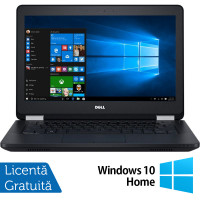 Laptop DELL Latitude E5270, Intel Core i5-6300U 2.40GHz, 8GB DDR4, 240GB SSD, 12.5 Inch + Windows 10 Home
