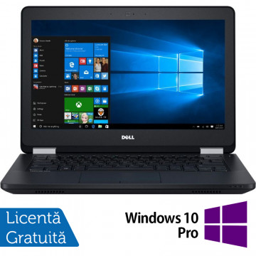 Laptop DELL Latitude E5270, Intel Core i5-6300U 2.40GHz, 8GB DDR4, 240GB SSD, 12.5 Inch + Windows 10 Pro, Refurbished Laptopuri Second Hand