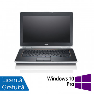 Laptop DELL Latitude E6420, Intel Core i5-2520M 2.50GHz, 4GB DDR3, 500GB SATA, DVD-ROM, 14 Inch, Webcam + Windows 10 Pro, Refurbished Laptopuri Refurbished