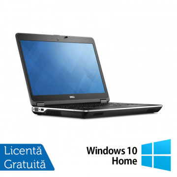 Laptop DELL Latitude E6440, Intel Core i5-4300M 2.60GHz, 4GB DDR3, 120GB SSD, DVD-RW, Fara Webcam, 14 Inch + Windows 10 Home, Refurbished Laptopuri Refurbished