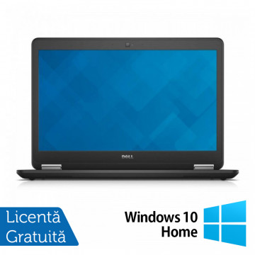 Laptop Dell Latitude E7450, Intel Core i7-5600U 2.60 GHz, 8GB DDR3, 512GB SSD, LED Display, HDMI, Full HD, Webcam, 14 Inch + Windows 10 Home, Refurbished Laptopuri Refurbished