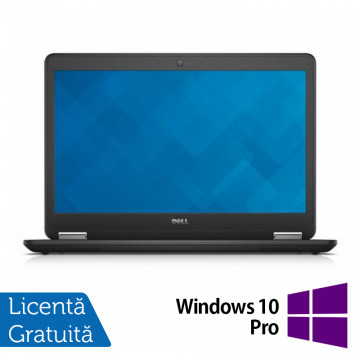 Laptop Dell Latitude E7450, Intel Core i7-5600U 2.60 GHz, 8GB DDR3, 512GB SSD, LED Display, HDMI, Full HD, Webcam, 14 Inch + Windows 10 Pro, Refurbished Laptopuri Refurbished