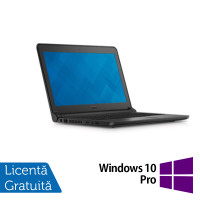Laptop DELL Latitude 3350, Intel Core i5-5200U 2.20GHz, 4GB DDR3, 320GB SATA, Wireless, Bluetooth, Webcam, 13.3 Inch + Windows 10 Pro