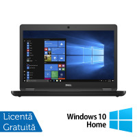 Laptop DELL Latitude 5480, Intel Core i5-6300U 2.40GHz, 8GB DDR4, 120GB SSD, 14 Inch, Webcam + Windows 10 Home