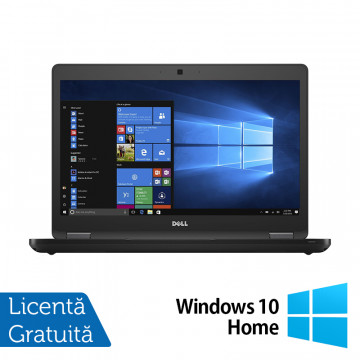 Laptop DELL Latitude 5480, Intel Core i5-6300U 2.40GHz, 8GB DDR4, 120GB SSD, 14 Inch, Webcam + Windows 10 Home, Refurbished Laptopuri Refurbished
