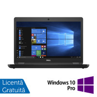 Laptop DELL Latitude 5480, Intel Core i5-6300U 2.40GHz, 8GB DDR4, 120GB SSD, 14 Inch, Webcam + Windows 10 Pro