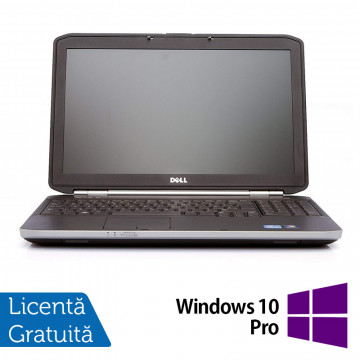 Laptop DELL Latitude E5520, Intel Core i5-2410M 2.30GHz, 4GB DDR3, 250GB SATA, DVD-RW, 15.6 Inch + Windows 10 Pro, Refurbished Laptopuri Refurbished