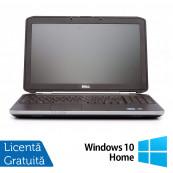 Laptop DELL Latitude E5520, Intel Core i5-2430M 2.40GHz, 4GB DDR3, 250GB SATA, DVD-RW, 15.6 Inch + Windows 10 Home, Refurbished Laptopuri Refurbished