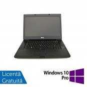 Laptop DELL Latitude E6500, Intel Core 2 Duo T9400 2.53GHz, 4GB DDR2, 160GB SATA, DVD-RW, 15 Inch + Windows 10 Pro, Refurbished Laptopuri Refurbished