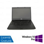 Laptop DELL Latitude E6510, Intel Core i7-640M 2.80GHz, 4GB DDR3, 320GB SATA, DVD-RW, 15.6 Inch, Fara Webcam + Windows 10 Pro, Refurbished