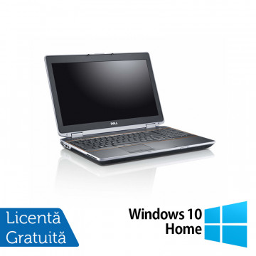 Laptop DELL Latitude E6520, Intel Core i5-2520M 2.50GHz, 8GB DDR3, 120GB SSD, DVD-RW, 15.6 Inch + Windows 10 Home, Refurbished Laptopuri Refurbished
