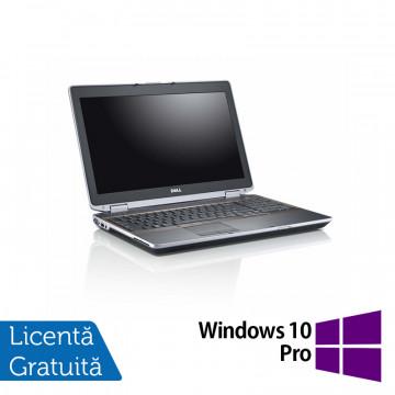 Laptop DELL Latitude E6520, Intel Core i5-2520M 2.50GHz, 8GB DDR3, 120GB SSD, DVD-RW, 15.6 Inch + Windows 10 Pro, Refurbished Intel Core i5