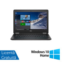 Laptop DELL Latitude E7270, Intel Core i5-6300U 2.30GHz, 8GB DDR4, 256GB SSD M.2 SATA, 12.5 Inch Full HD, Webcam + Windows 10 Home