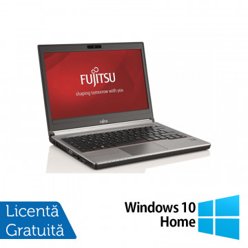 Laptop Fujitsu Siemens Lifebook E736, Intel Core i5-6200U 2.30GHz, 8GB DDR4, 240GB SSD, 13 Inch + Windows 10 Home, Refurbished Laptopuri Refurbished