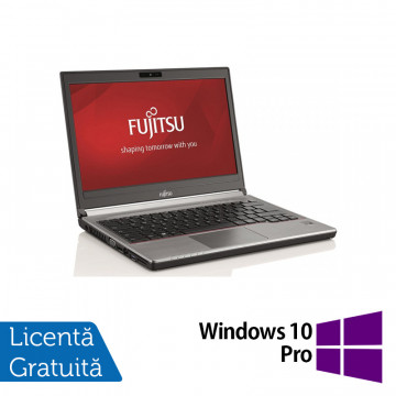 Laptop Fujitsu Siemens Lifebook E736, Intel Core i5-6200U 2.30GHz, 8GB DDR4, 240GB SSD, 13 Inch + Windows 10 Pro, Refurbished Laptopuri Refurbished