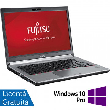 Laptop FUJITSU SIEMENS Lifebook E743, Intel Core i5-3230M 2.60GHz, 8GB DDR3, 120GB SSD, DVD-RW, 14 Inch, Fara Webcam + Windows 10 Pro, Refurbished Laptopuri Refurbished