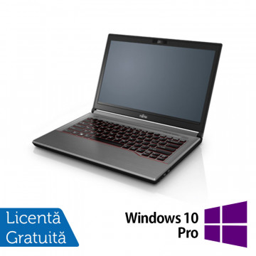Laptop Fujitsu Lifebook E744, Intel Core i5-4200M 2.50GHz, 8GB DDR3, 120GB SSD, DVD-RW, 14 Inch + Windows 10 Pro, Refurbished Laptopuri Refurbished