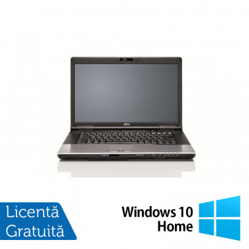 Laptop FUJITSU SIEMENS E752, Intel Core i5-3210M 2.50GHz, 8GB DDR3, 120GB SSD, DVD-RW + Windows 10 Home, Refurbished Laptopuri Refurbished