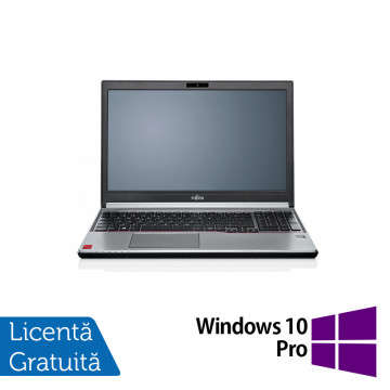 Laptop FUJITSU SIEMENS Lifebook E754, Intel Core i5-4200M 2.50GHz, 4GB DDR3, 240GB SSD, DVD-RW, 15.6 Inch, Fara Webcam + Windows 10 Pro, Refurbished Laptopuri Refurbished