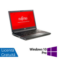 Laptop Fujitsu Lifebook E746, Intel Core i3-6100U 2.30GHz, 8GB DDR4, 240GB SSD, 14 Inch, Webcam + Windows 10 Pro