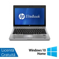 Laptop HP EliteBook 2560p, Intel Core i5-2450M 2.50GHz, 4GB DDR3, 320GB SATA, DVD-RW, 12 Inch + Windows 10 Home