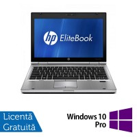 Laptop HP EliteBook 2560p, Intel Core i5-2450M 2.50GHz, 4GB DDR3, 320GB SATA, DVD-RW, 12 Inch + Windows 10 Pro