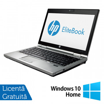 Laptop Hp EliteBook 2570p, Intel Core i5-3230M 2.60GHz, 4GB DDR3, 240GB SSD, DVD-RW, 12,5 Inch LED-backlit HD, DisplayPort + Windows 10 Home, Refurbished Laptopuri Refurbished