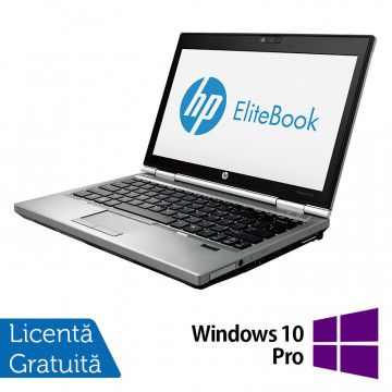 Laptop Hp EliteBook 2570p, Intel Core i5-3230M 2.60GHz, 4GB DDR3, 240GB SSD, DVD-RW, 12,5 Inch LED-backlit HD, DisplayPort + Windows 10 Pro, Refurbished Laptopuri Refurbished