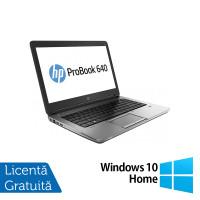 Laptop HP EliteBook 640 G1, Intel Core i5-4300M 2.60GHz, 8GB DDR3, 120GB SSD, Webcam, 14 inch, DVD-RW + Windows 10 Home