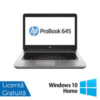 Laptop Refurbished HP ProBook 645 G1, AMD Quad-Core A10-5750M 2.5GHz , 8GB DDR3, 320GB SATA, 14 Inch + Windows 10 Home