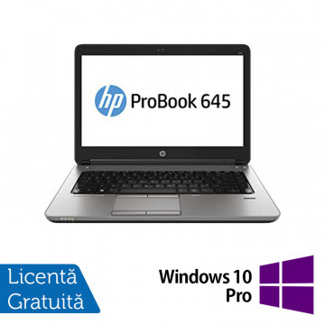 Laptop Refurbished HP ProBook 645 G1, AMD Quad-Core A10-5750M 2.5GHz , 8GB DDR3, 320GB SATA, 14 Inch + Windows 10 Pro Laptopuri Refurbished