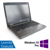 Laptop HP ProBook 6465b, AMD A4-3310MX 2.10GHz, 4GB DDR3, 250GB SATA, DVD-RW + Windows 10 Pro, Refurbished Laptopuri Refurbished