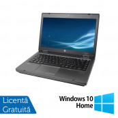 Laptop HP ProBook 6475b, AMD A4-4300M 2.50GHz, 4GB DDR3, 320GB SATA, DVD-RW, 14 Inch + Windows 10 Home, Refurbished Laptopuri Refurbished