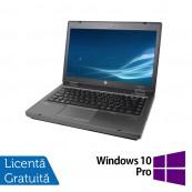Laptop HP ProBook 6475B, AMD A4-4300M 2.70GHz, 4GB DDR3, 320GB SATA, DVD-RW + Windows 10 Pro, Refurbished Laptopuri Refurbished