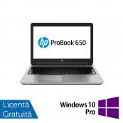 Laptop HP ProBook 650 G1, Intel Core i7-4600M 2.90GHz, 8GB DDR3, 120GB SSD, 15.6 Inch, DVD-RW, Webcam + Windows 10 Pro, Refurbished Laptopuri Refurbished