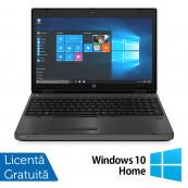 Laptop HP 6570b, Intel Core i5-3210M 2.50GHz, 4GB DDR3, 120GB SSD, DVD-RW, 15.6 inch, LED, Webcam, Tastatura numerica + Windows 10 Home, Refurbished Laptopuri Refurbished
