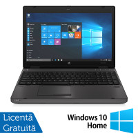 Laptop HP ProBook 6570b, Intel Core i3-3120M 2.50GHz, 4GB DDR3, 120GB SSD, DVD-RW, 15.6 inch, LED, Webcam, Tastatura numerica + Windows 10 Home