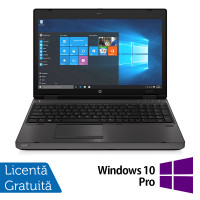 Laptop HP ProBook 6570b, Intel Core i3-3120M 2.50GHz, 4GB DDR3, 320GB SATA, DVD-RW, 15.6 inch, LED, Webcam, Tastatura numerica + Windows 10 Pro