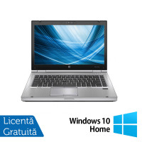 Laptop HP EliteBook 8460p, Intel Core i7-2620M 2.70GHz, 4GB DDR3, 120GB SSD, DVD-RW, 14 Inch, Webcam + Windows 10 Home