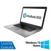 Laptop HP EliteBook 850 G2, Intel Core i5-5200U 2.20GHz, 8GB DDR3, 120GB SSD, 15 Inch + Windows 10 Home, Refurbished Laptopuri Refurbished