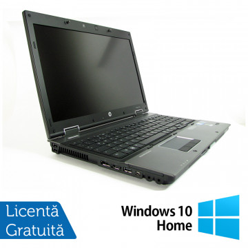 Laptop HP EliteBook 8540w Mobile Workstation, Intel Core i7-820QM 1.73GHz, 8GB DDR3, 320GB SATA, DVD-RW, 15.6 Inch, nVidia FX 880M + Windows 10 Home, Refurbished Laptopuri Second Hand