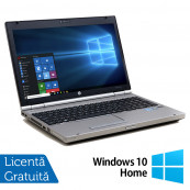 Laptop Hp EliteBook 8560p, Intel Core i7-2620M 2.70GHz, 4GB DDR3, 120GB SSD, DVD-RW, 15.6 Inch, Webcam, Tastatura Numerica + Windows 10 Home, Refurbished Laptopuri Refurbished