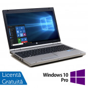 Laptop Hp EliteBook 8560p, Intel Core i7-2620M 2.70GHz, 4GB DDR3, 120GB SSD, DVD-RW, 15.6 Inch, Webcam, Tastatura Numerica + Windows 10 Pro, Refurbished Laptopuri Refurbished