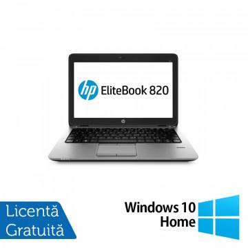 Laptop HP Elitebook 820 G2, Intel Core i5-5300U 2.30GHz, 8GB DDR3, 240GB SSD, Webcam, 12 Inch + Windows 10 Home, Refurbished Laptopuri Refurbished