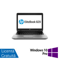Laptop HP Elitebook 820 G2, Intel Core i5-5300U 2.30GHz, 8GB DDR3, 240GB SSD, Webcam, 12 Inch + Windows 10 Pro