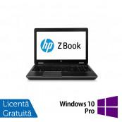 Laptop Hp Zbook 15 G2, Intel Core i7-4700M 2.40GHz, 16GB DDR3, 240GB SSD, Nvidia Quadro K610M 1GB GDDR5, DVD-RW, 15.6 Inch, Full HD, Webcam + Windows 10 Pro, Refurbished Laptopuri Refurbished