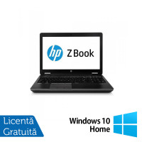 Laptop Hp Zbook 15 G2, Intel Core i7-4910MQ 2.90GHz, 32GB DDR3, 480GB SSD, NVIDIA Quadro K2100M 2GB GDDR5, DVD-RW + Windows 10 Home