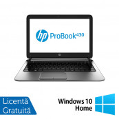 Laptop Refurbished HP ProBook 430 G1, Intel Celeron Dual Core 2955U 1.4GHz , 4GB DDR3, 320GB SATA + Windows 10 Home Laptopuri Refurbished